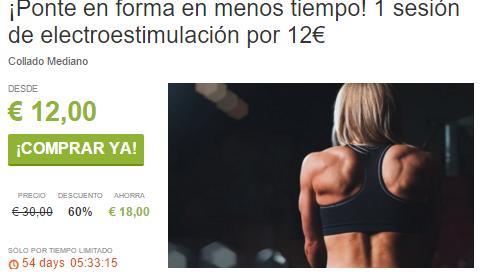 ¡Ponte en forma en menos tiempo 1 sesión de electroestimulación por 12€ ViveLaSierra