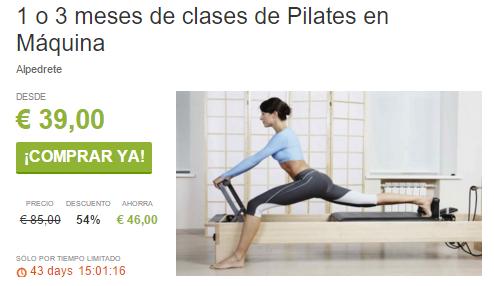 1 o 3 meses de clases de Pilates en Máquina ViveLaSierra