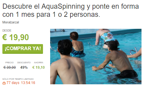 Aquaspinning en Moralzarzal