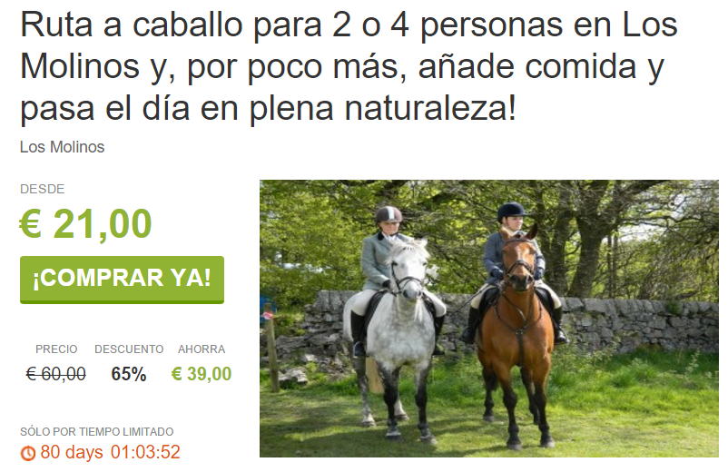 Ruta a Caballo por la Sierra de Guadarrama para dos desde 21€ ViveLaSierra