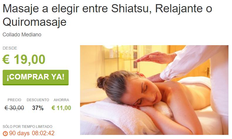 Masaje Shiatsu Relajante o Quiromasaje por 19€ en Collado Mediano ViveLaSierra