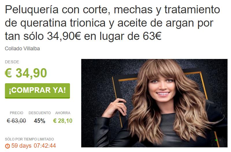 Mechas Tinte y Queratina en Villalba por 34 90€ ViveLaSierra