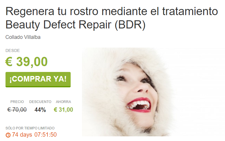 Regenera tu rostro mediante el tratamiento Beauty Defect Repair BDR ViveLaSierra