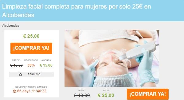 Limpieza facial completa para mujeres por solo 25€ en Alcobendas Liteame