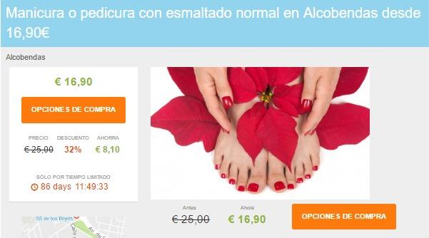 Manicura o pedicura con esmaltado normal en Alcobendas desde 16 90€ Liteame