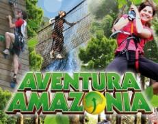 Circuito en los árboles en Aventura Amazonia Cercedilla